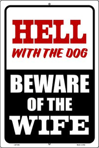 Beware Of Wife Wholesale Metal Novelty Large Parking Sign