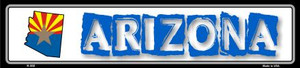 Arizona State Outline Wholesale Novelty Metal Vanity Small Street Signs K-302