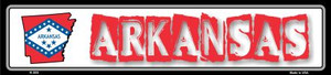 Arkansas State Outline Wholesale Novelty Metal Vanity Small Street Signs K-303