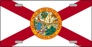 Florida State Flag Wholesale Metal Novelty License Plate LP-519