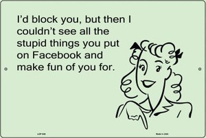 Stupid Things On Facebook E-Cards Wholesale Metal Novelty Small Large Parking Sign LGP-945