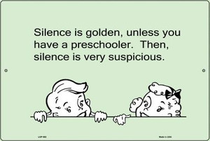 Silence Is Golden E-Cards Wholesale Metal Novelty Small Large Parking Sign LGP-982