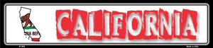 California State Outline Wholesale Novelty Metal Vanity Small Street Signs K-304