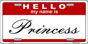 Princess Wholesale Metal Novelty License Plate LP-5199