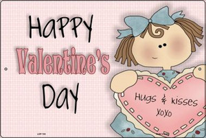 Happy Valentines Day Wholesale Metal Novelty Large Parking Sign LGP-104