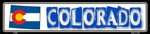 Colorado State Outline Wholesale Novelty Metal Vanity Small Street Signs K-305