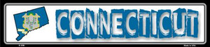 Connecticut State Outline Wholesale Novelty Metal Vanity Small Street Signs K-306