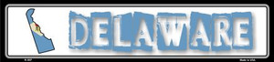 Delaware State Outline Wholesale Novelty Metal Vanity Small Street Sign
