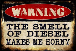 The Smell Of Diesel Wholesale Metal Novelty Large Parking Sign LGP-1333