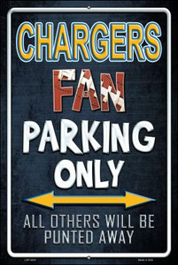 Chargers Wholesale Metal Novelty Large Parking Sign LGP-2016
