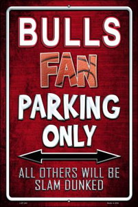 Bulls Wholesale Metal Novelty Large Parking Sign LGP-242