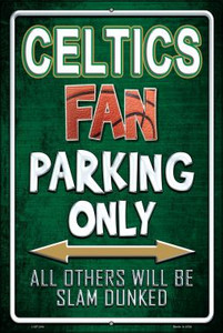 Celtics Wholesale Metal Novelty Large Parking Sign LGP-244