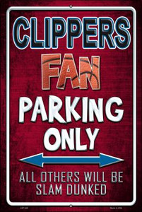 Clippers Wholesale Metal Novelty Large Parking Sign LGP-245
