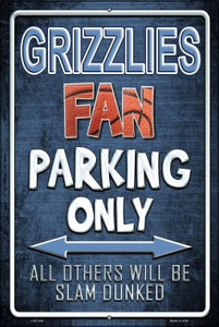 Grizzlies Wholesale Metal Novelty Large Parking Sign LGP-246