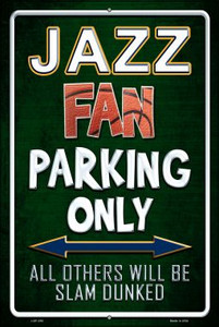Jazz Wholesale Metal Novelty Large Parking Sign LGP-250