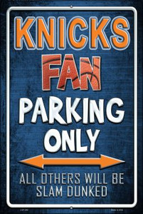 Knicks Wholesale Metal Novelty Large Parking Sign LGP-252