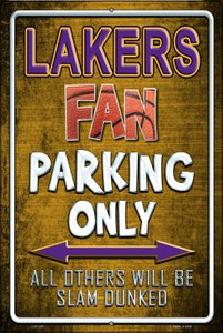 Lakers Wholesale Metal Novelty Large Parking Sign LGP-253
