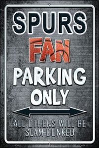 Spurs Wholesale Metal Novelty Large Parking Sign LGP-263