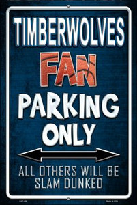 Timberwolves Wholesale Metal Novelty Large Parking Sign LGP-266