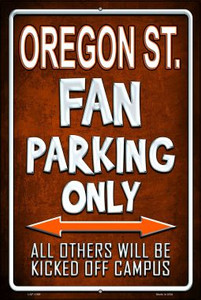 Oregon State Wholesale Metal Novelty Large Parking Sign LGP-1399