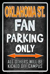 Oklahoma State Wholesale Metal Novelty Large Parking Sign LGP-1400