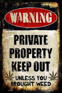 Private Property Wholesale Metal Novelty Large Parking Sign LGP-1395