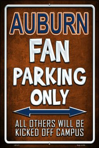 Auburn Wholesale Metal Novelty Large Parking Sign LGP-271
