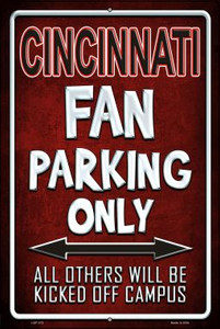 Cincinnati Wholesale Metal Novelty Large Parking Sign LGP-272