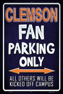 Clemson Wholesale Metal Novelty Large Parking Sign LGP-273