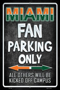 Miami Wholesale Metal Novelty Large Parking Sign LGP-285