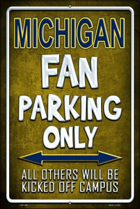 Michigan Wholesale Metal Novelty Large Parking Sign LGP-287