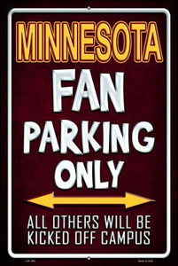 Minnesota Wholesale Metal Novelty Large Parking Sign LGP-288