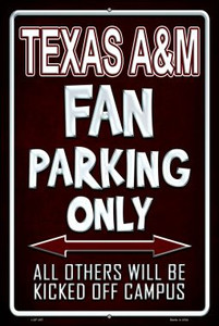 Texas A & M Wholesale Metal Novelty Large Parking Sign LGP-297