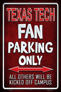 Texas Tech Wholesale Metal Novelty Large Parking Sign LGP-299
