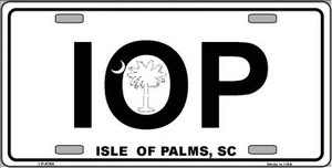 IOP Isle of Palms Wholesale Metal Novelty License Plate LP-5258