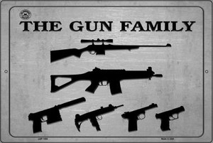 The Gun Family Wholesale Metal Novelty Large Parking Sign LGP-1505