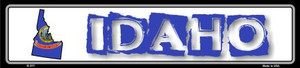 Idaho State Outline Wholesale Novelty Metal Vanity Small Street Signs K-311