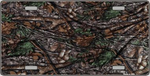 Branches Camouflage Wholesale Metal Novelty License Plate LP-5268