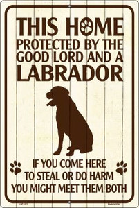 Labrador Protected Metal Novelty Large Parking Sign Wholesale LGP-1571