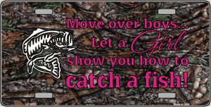 Move Over Boys Wholesale Metal Novelty License Plate LP-5272