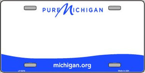 Michigan Novelty State Background Blank Wholesale Metal License Plate LP-5279