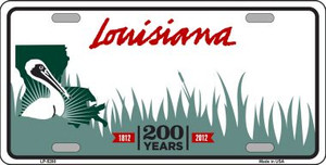 Louisiana Novelty State Background Blank Wholesale Metal License Plate LP-5280