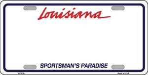 Louisiana Novelty State Background Blank Wholesale Metal License Plate