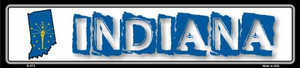 Indiana State Outline Wholesale Novelty Metal Vanity Small Street Signs K-313