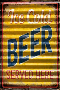 Ice Cold Beer Served Here Wholesale Novelty Large Parking Sign LGP-2313