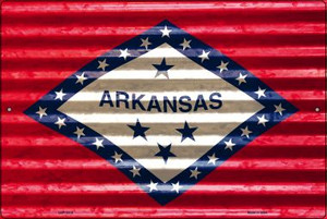 Arkansas Flag Wholesale Novelty Large Parking Sign LGP-2318