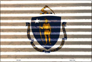Massachusetts Flag Wholesale Novelty Large Parking Sign LGP-2335