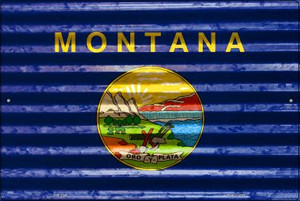 Montana Flag Wholesale Novelty Large Parking Sign LGP-2340