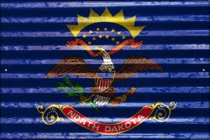 North Dakota Flag Wholesale Novelty Large Parking Sign LGP-2348