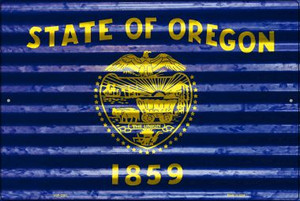 Oregon Flag Wholesale Novelty Large Parking Sign LGP-2351